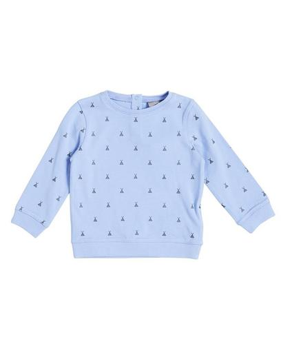Sweater met glitterprint